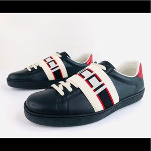 Gucci Ace Stripe Miro Soft Leather 523469 Sneakers
